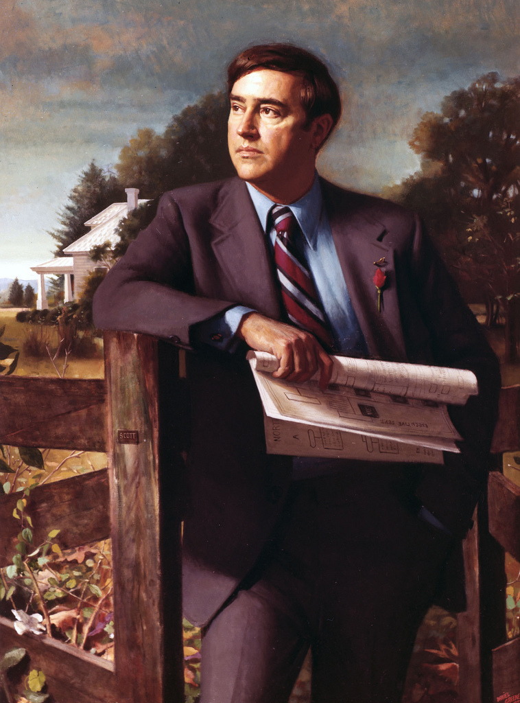 Governor Bob Scott's official portrait. Image from the State Archives.