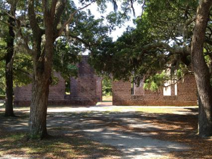 The ruins of St. Philips Anglican Church at Brunswick Town/Fort Anderson State Historic Site