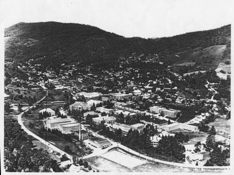 An aerial view of ASU in the 1950s.