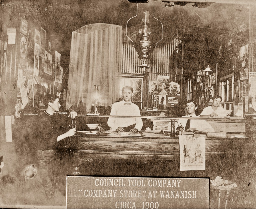 A Council Tools store in what's now Lake Waccamaw, and was then called Wananish.