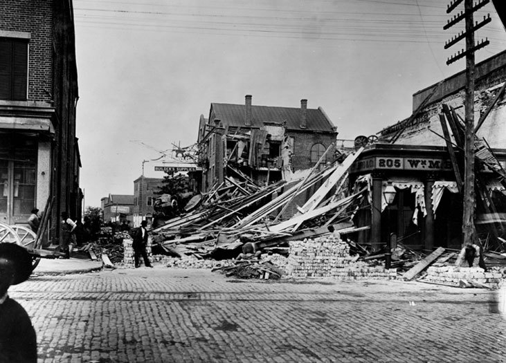 Damage from the 1886 Charleston earthquake