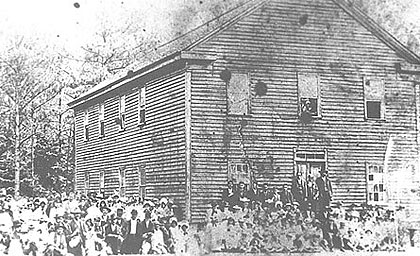 The Croatan Normal School in 1887.