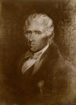 A portrait of Daniel Boone