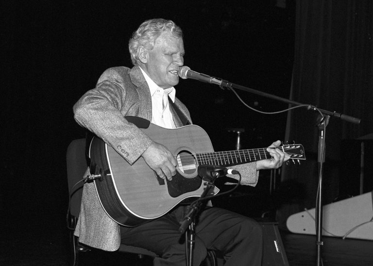 An image of Doc Watson from the State Archives