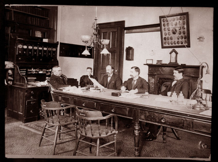 An image of staff at Dorothea Dix Hospital in 1896