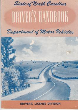 A state issued driver's handbook from 1953