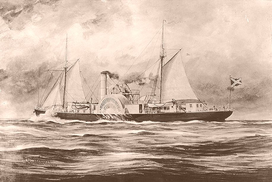 A blockade runner. Image from the Navy History and Heritage Command.