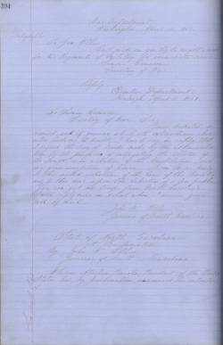 A copy of Ellis's letter from the State Archives.