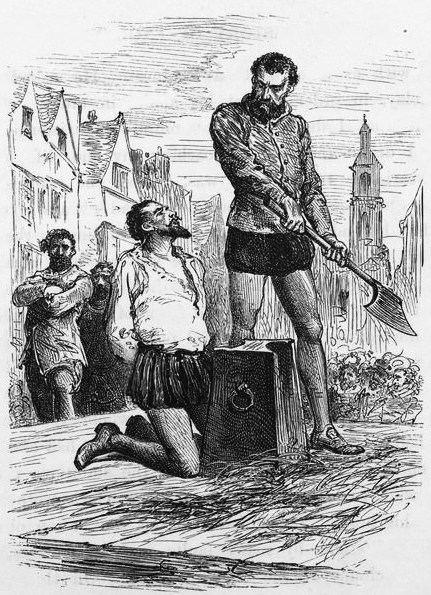 An 1860 sketch of Raleigh before his beheading.
