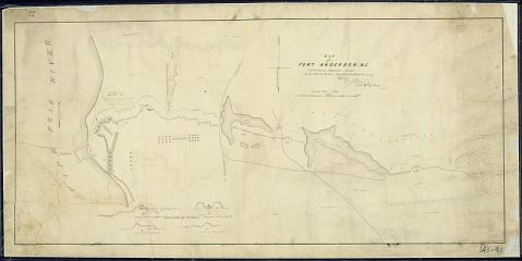 An 1865 map of Fort Anderson