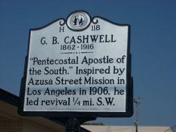 G.B. Cashwell Historical Marker