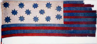 The Guilford Courthouse Flag, now in the collection of the N.C. Museum of History