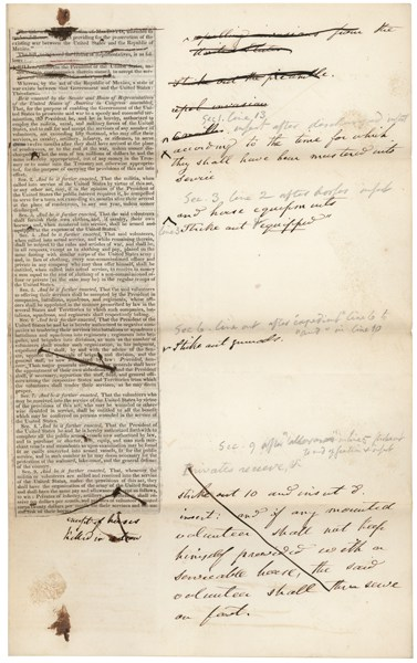 The 1846 declaration of war against Mexico. Image from the National Archives.