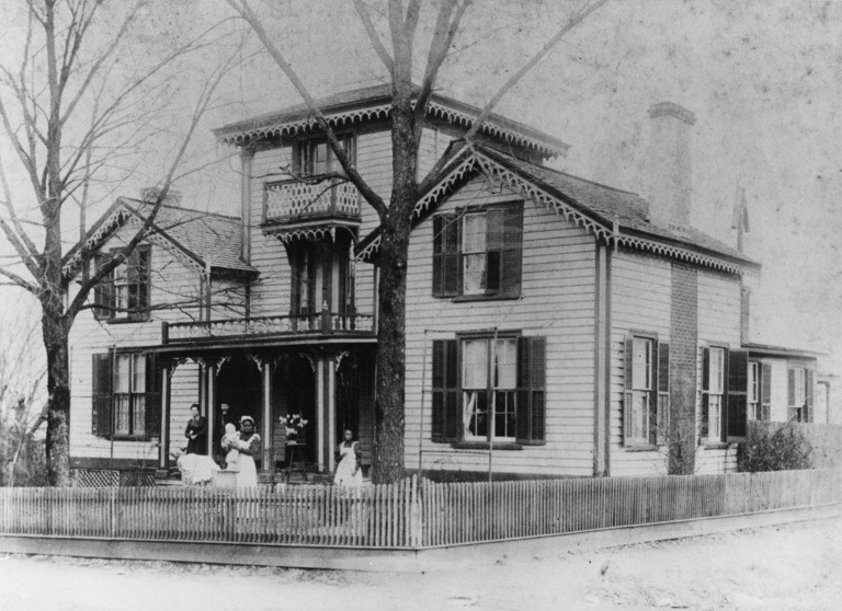 The Jacob W. Holt House in Warrenton. Image from the State Historic Preservation Office.