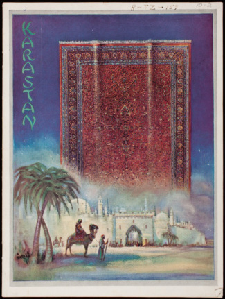 The cover of a trade catalog for Karastan Rugs. Image from Historic New England.