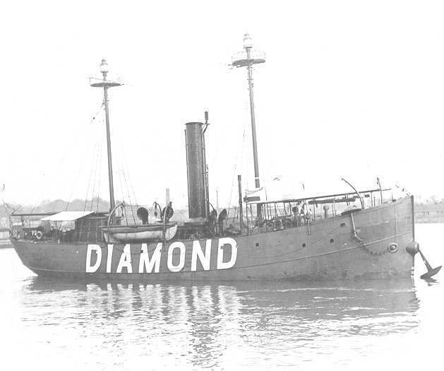 Diamond Shoals Lightship No. 71. Image from the U.S. Coast Guard.