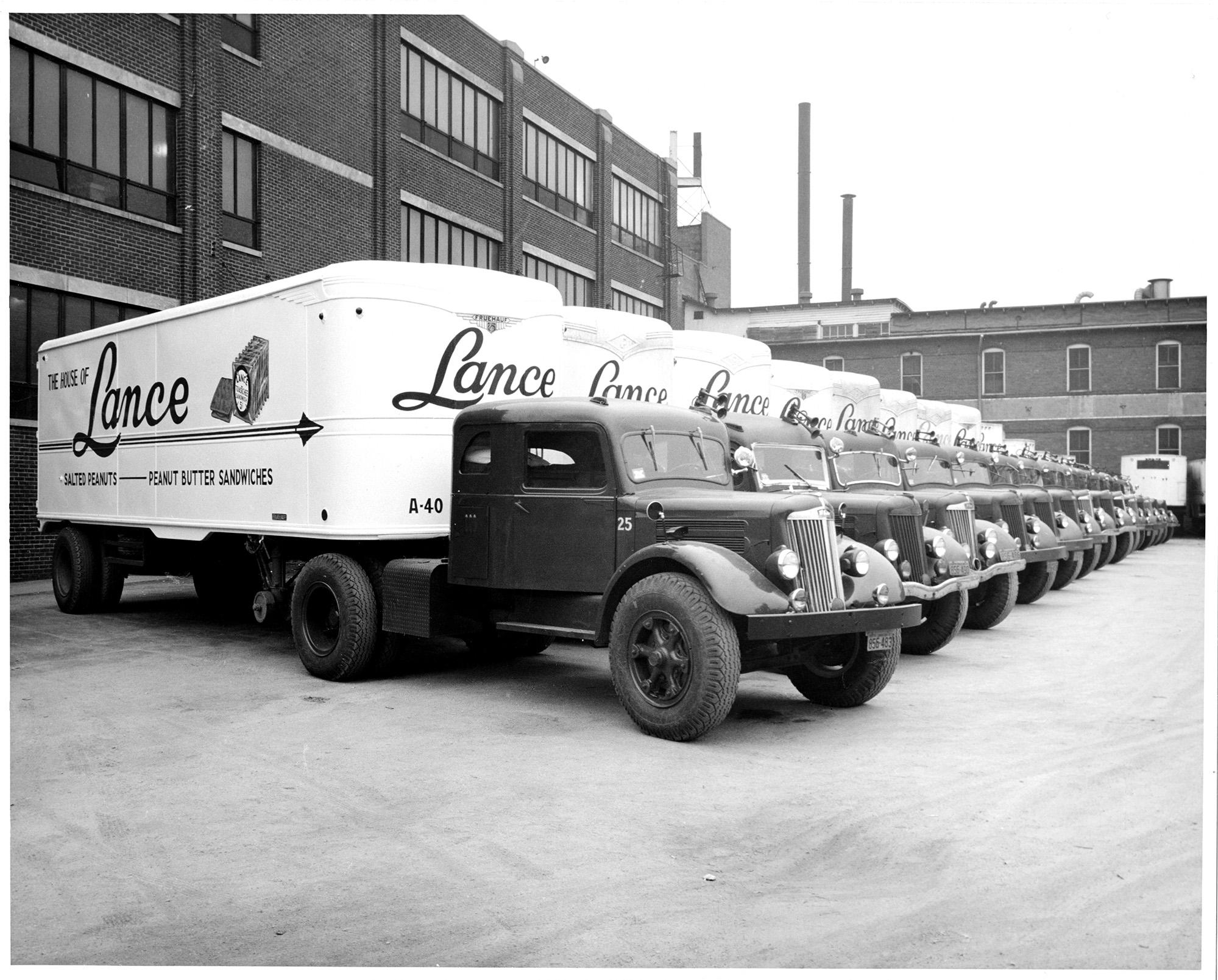 Lance Cracker trucks in Charlotte in the 1940s.