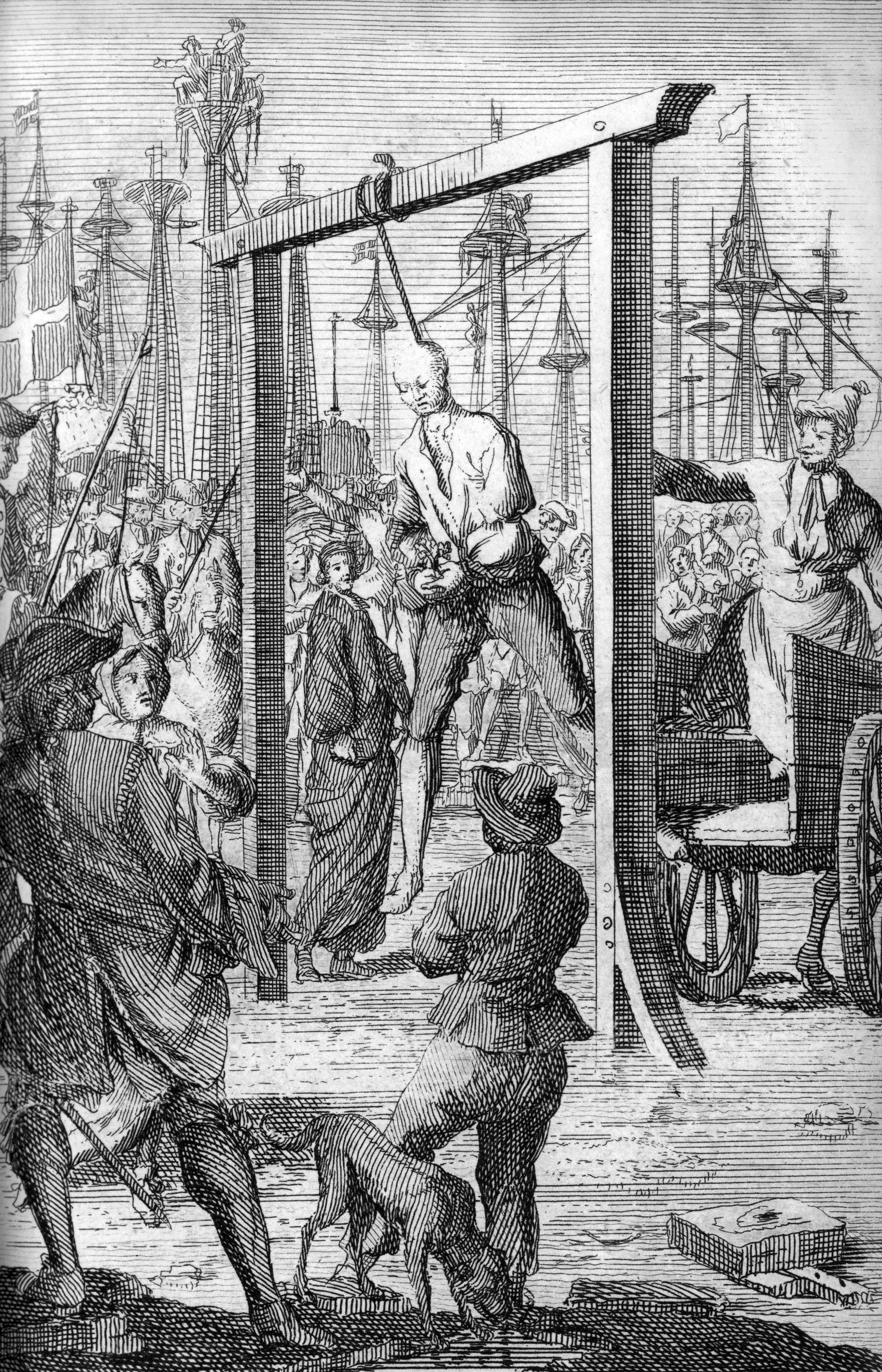 The hanging of Stede Bonnet