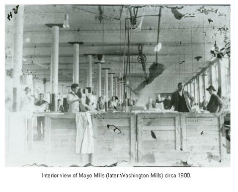 Workers at Mayo Mills, circa 1900.