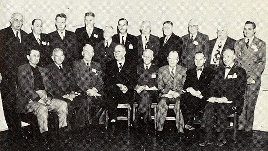 Nineteen former NCPA presidents, gathering in 1951. Image from Archive.org.