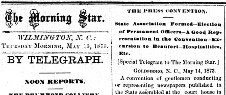 An article in what's now the Wilmington Star-News announcing NCPA's formation. Image from the State Library.