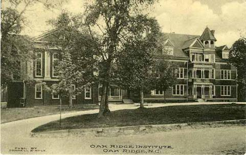 A circa 1910-1920 image of the Oak Ridge Academy. Image from the N.C. Museum of History