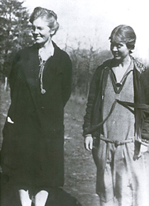 School founders, Olive Dame Campbell and Marguerite Butler. Image from John C. Campbell Folk School.