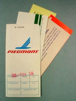 A ticket folder from Piedmont Airlines, now in the collection of the N.C. Museum of History