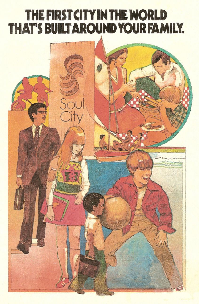 A 1970 U.S. Department of Housing and Urban Development advertisement for Soul City.