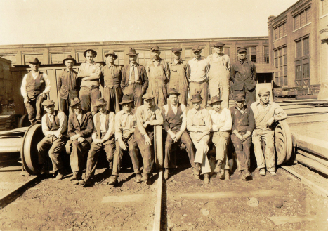 Blacksmiths who worked at Spencer Shops, circa 1920-30.