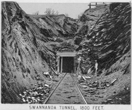 Swannanoa Tunnel, 1800 Feet