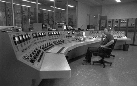 The Voice of America Control Room in Greenville, circa 1983.