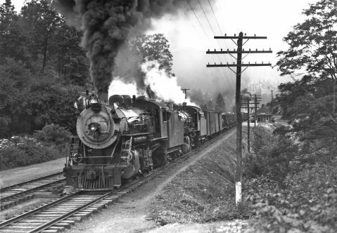 A train on the Western North Carolina Railroad in Jackson County.
