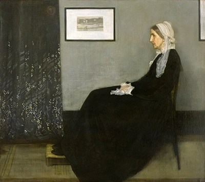 The famous painting commonly known as Whistler's Mother. Image from the Wikimedia Foundation