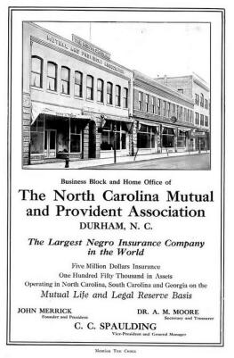An August 1914 ad for the N.C. Mutual and Provident Association