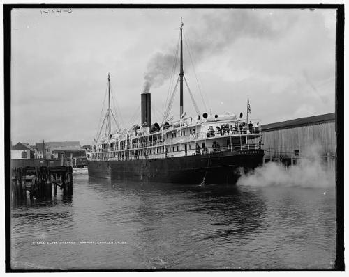 Clyde steamer Araphoe. Image from the Library of Congress.