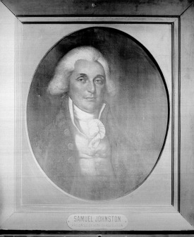 Samuel Johnston. Image from  the State Archives.