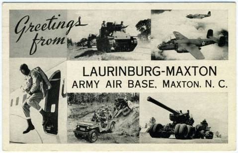 Laurinburg-Maxton postcard. Image from the Library of Congress.