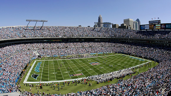 Bank of America Stadium in Charlotte, home of the Carolina Panthers. Photo courtesy of ESPN.