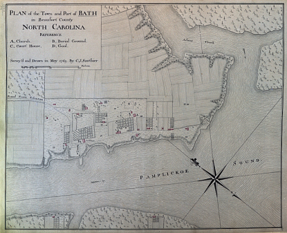A 1789 plan for Bath, now in the collection of the State Archives