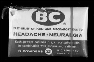 An old BC Powder sample