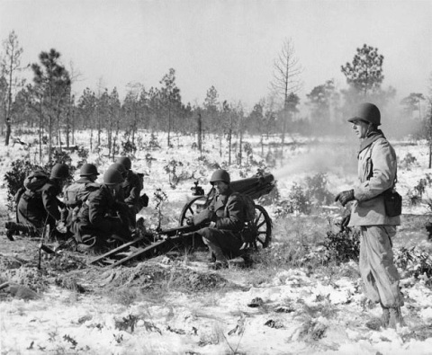 A training exercise at Fort Bragg during World War II. Image from the N.C. Museum of History.