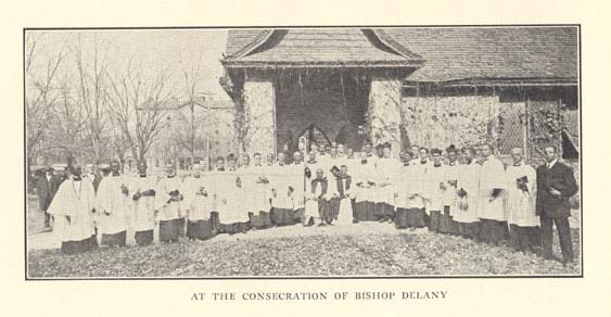 Delaney's consecration. Image from History of the Afro-American Group of the Episcopal Church via Archive.org.