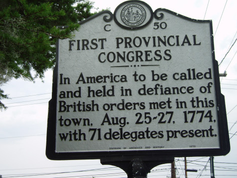 First Provincial Congress - In America to be called and held in defiance of British orders met in this town, Aug. 25-27, 1774, with 71 delegates present.