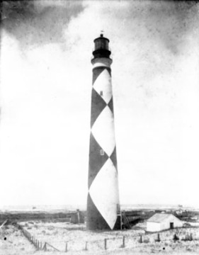 An circa 1900 image of the light from the State Archives