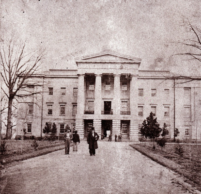 An 1861 image of the Capitol, now held by the State Archives
