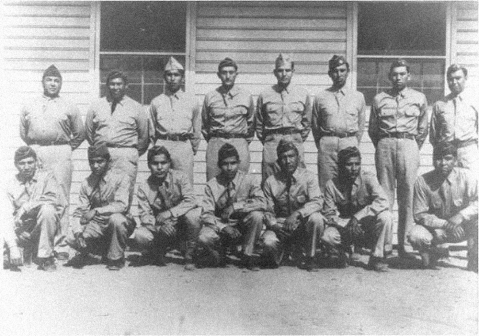 Cherokee and Choctaw code talkers from World War I at Fort Benning, Ga. Image from the U.S. Army.