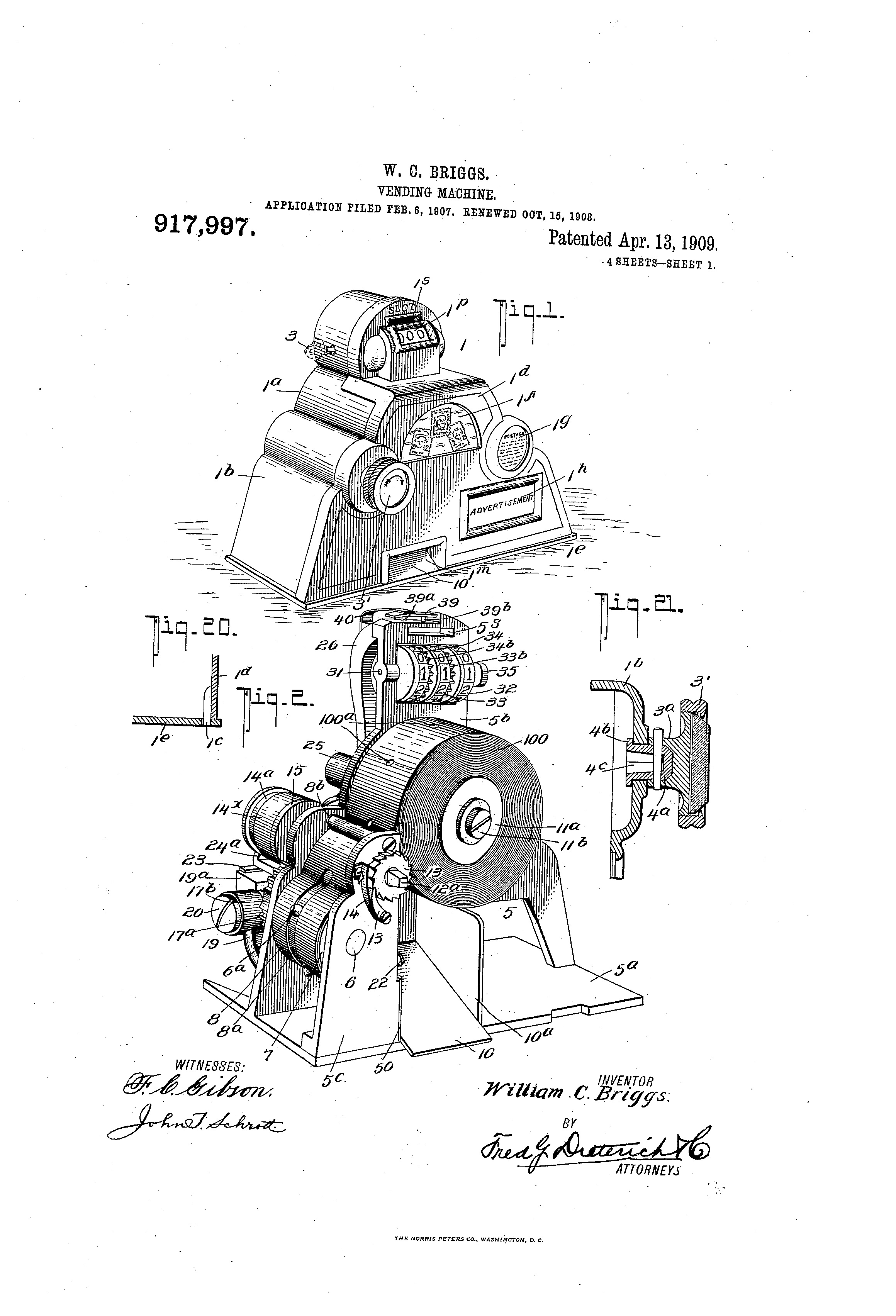 Drawings from the Briggs patent. Image from the U.S. Patent and Trademark Office.