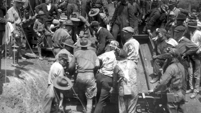 An image of the Coal Glen disaster's aftermath from the UNC Photographic Archives