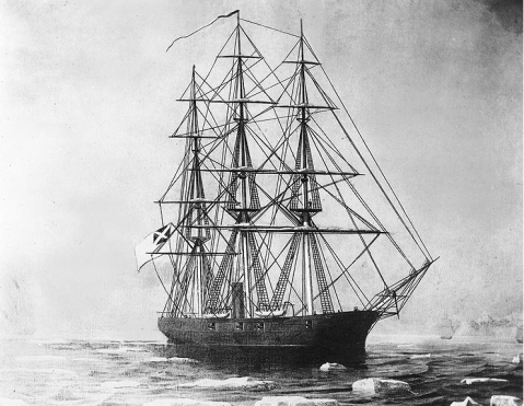 The CSS Shenandoah. Photo courtesy of the Naval Historical Center.
